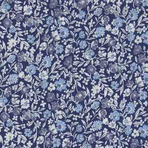 Liberty London The Orchard Garden blauw witte bloem