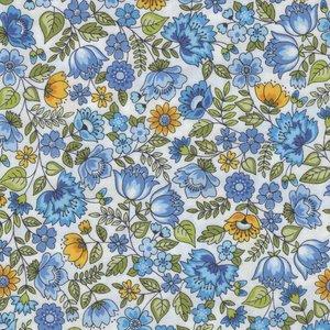 Andover/Makeower Bloom wit blauw bloemetje