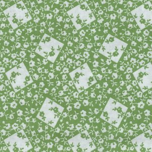 Windham Fabrics Storybook Ranch groen wit bloemetje