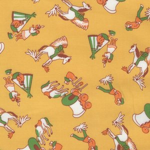 Windham Fabrics Storybook Ranch geel indiaan