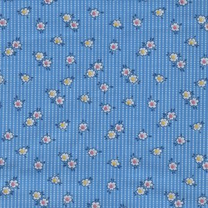 Windham Fabrics Storybook Ranch blauw wit bloemetje