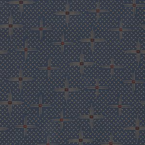 Windham Fabrics Kindred Spirits Gathering blauw werkje
