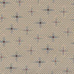 Windham Fabrics Kindred Spirits Gathering ecru met blauw werkje