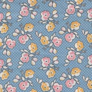 Penny Rose Fabrics Lemonade Sundae blauw bloem