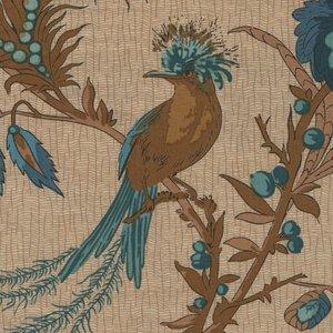 Andover/Makeower Rochester ecru blauwe vogels