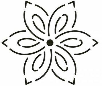 Quilt Stencil Small Flower