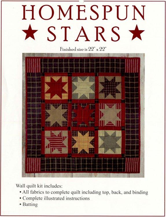 Homespun Stars Kit, compleet pakket