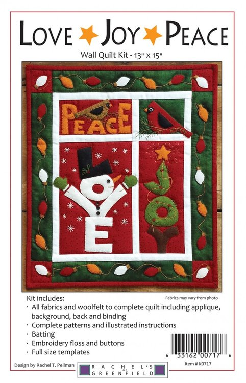 Love Joy Wall Quilt Kit, compleet pakket miniquilt