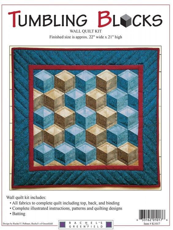 Tumbling Blocks Kit, compleet pakket miniquilt