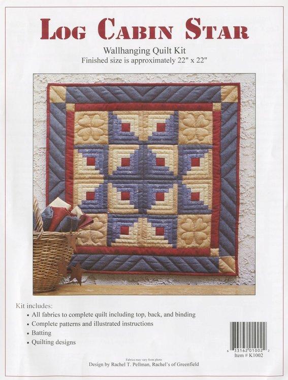 Log Cabin Star Kit, compleet pakket miniquilt