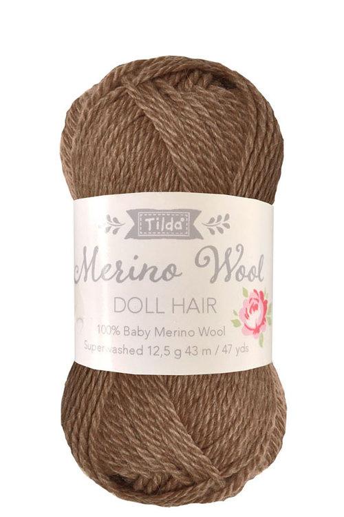 Tilda wol voor poppenhaartjes Brown