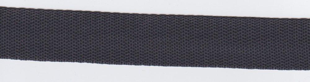 Tassenband antraciet 24mm