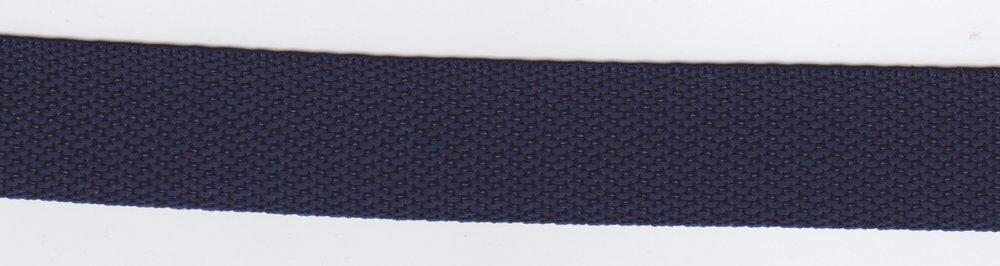 Tassenband marine blauw 24mm