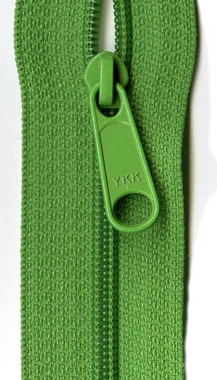 YKK rits 22 inch (55cm) lime green