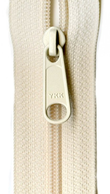 YKK rits 22 inch (55cm) cream