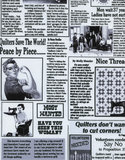 Timeless Treasures wit met zwart krant_