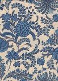 Dutch Heritage Indian Rapsody ecru blauw bloem_