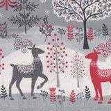 Makeower Christmas Scandi grijs border stof_