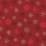 Makeower Christmas Ombre Snowflake rood sterretjes_
