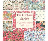 Liberty London The Orchard Garden ecru oranje minibloem_