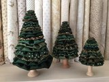 Setje om stoffen kerstboompjes te maken_