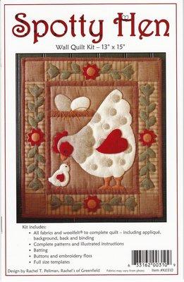 Spotty Hen Kit, compleet pakket miniquilt