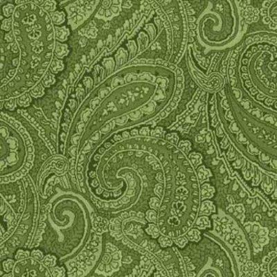 Wilmington Prints Green Paisley