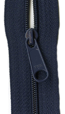 YKK rits 22 inch (55cm) donker blauw