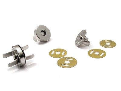 Magneetsluiting 14mm nikkel