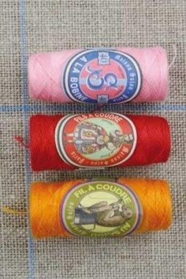 Sajou cocons alles naaigaren rood/roze/oranje