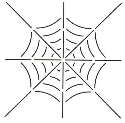 Quilt Stencil Spider Web