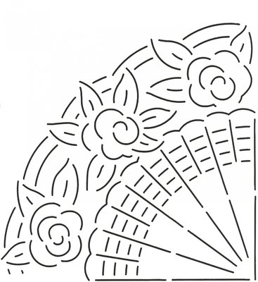 Quilt Stencil Grandmother's Fan
