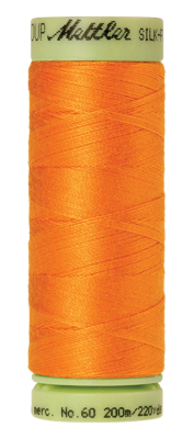 Mettler Silk Finish Cotton 60, 0122 oranje-geel
