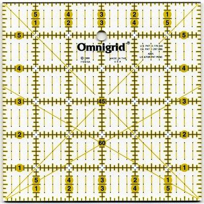 Omnigrid universele liniaal 6 x 6 inch