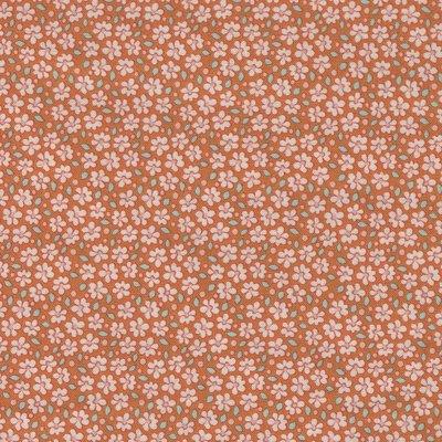 Tilda Bird Pond oranje klein bloemetje
