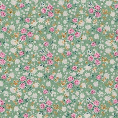Tilda Apple Butter groen klein roosje