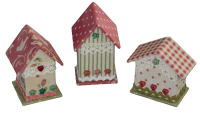 3 Mini Houses kartonnage kit