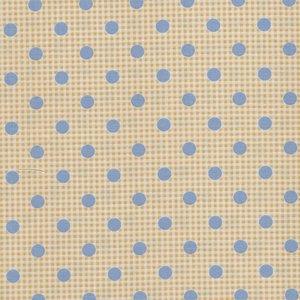 Tilda Happy Campers geel blauwe stip