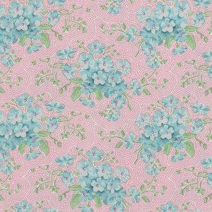 Tilda Happy Campers roze blauwe bloemetjes
