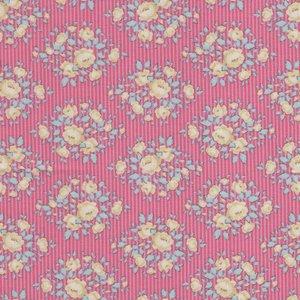 Tilda Happy Campers roze gele bloemetjes