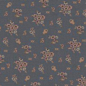 Windham Fabrics French Armoire blauw bloemenmandjes