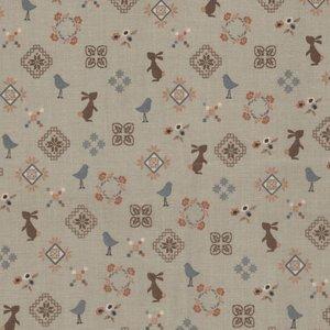Windham Fabrics French Armoire tan konijntjes