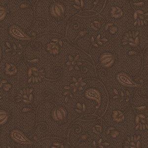 Henri Glass Esther's Heirloom Shirtings bruin bloem