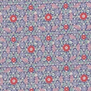 Tilda Bon Voyage blauw lila rood bloemetje