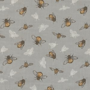 Windham Fabrics Tell The Bees grijs bij