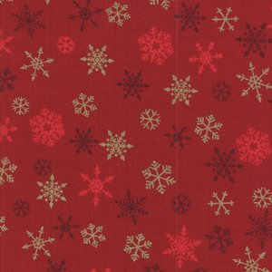 Makeower Christmas Ombre Snowflake rood sterretjes