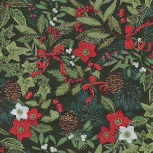 Makeower Christmas Yuletide groen kerstbloemen