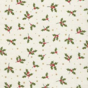 Makeower Christmas Yuletide ecru klein hulstblaadje