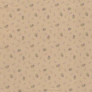 Marcus Fabrics Plumberry ecru paars bloemetje