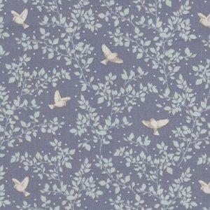Tilda Maple Farm Birdie Blueberry paars wit duifje